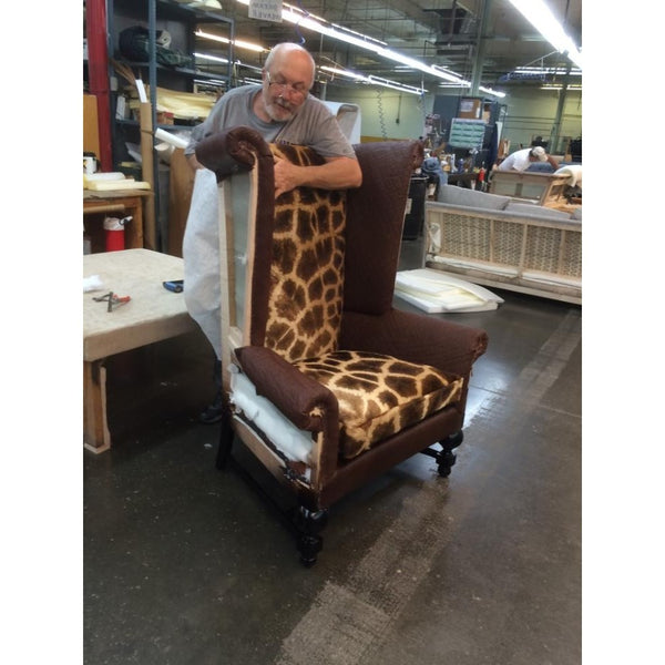 Customer's Own Material Wingback King Chair - Trophy Room Collection  - 3