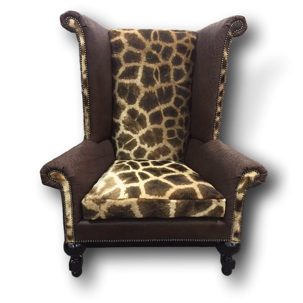 Kings Chair- Giraffe - Trophy Room Collection