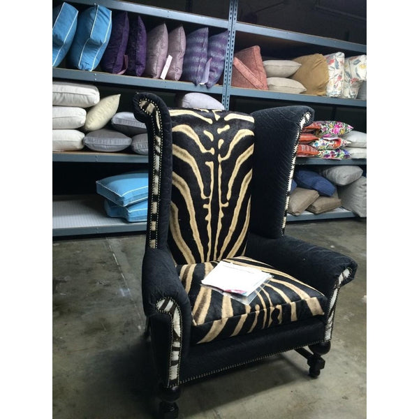 Customer's Own Material Wingback King Chair - Trophy Room Collection  - 2