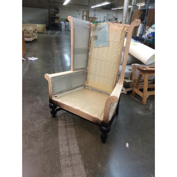 Customer's Own Material Wingback King Chair - Trophy Room Collection  - 5