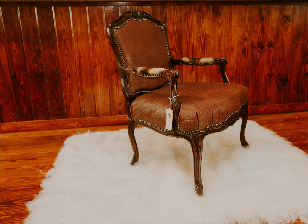 Carved Victorian Chair- Elephant (Tabac) - - Trophy Room Collection