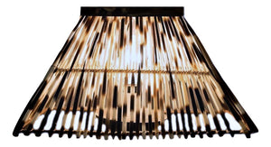 LIGHT SHADE - PORCUPINE QUILL - RECTANGLE - Trophy Room Collection