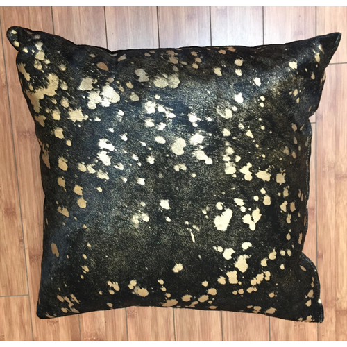 Metallic Gold on Black Cowhide w/ Black Backing - Trophy Room Collection