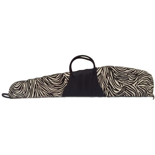 Gun Case- Stenciled Zebra on Cowhide - Trophy Room Collection