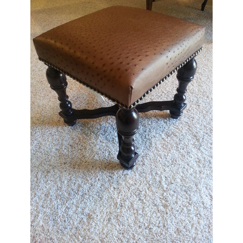 Genuine Ostrich Stool - Trophy Room Collection