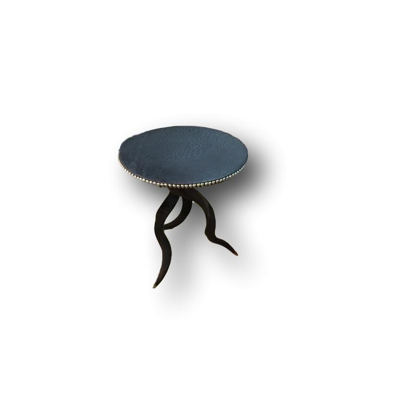 TRIPOD Table - Ostrich Table Top with Natural Kudu Base - Trophy Room Collection