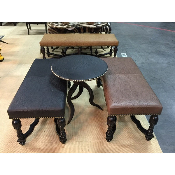 Tripod Kudu Table w/ Ostrich Leather - Trophy Room Collection