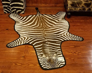 S-Grade ZEBRA SKIN RUG - S12 - Trophy Room Collection
