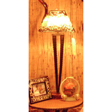 TABLE LAMP DOUBLE GEMSBOK NATURAL (TL-G2-27N) - Trophy Room Collection