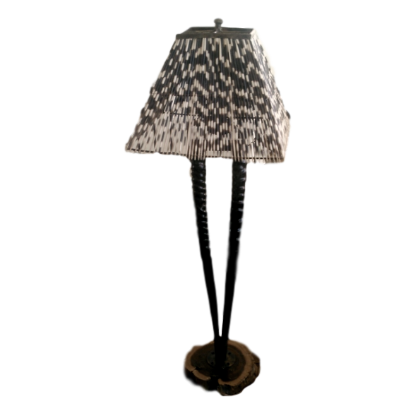 TABLE LAMP DOUBLE GEMSBOK POLISHED - Trophy Room Collection