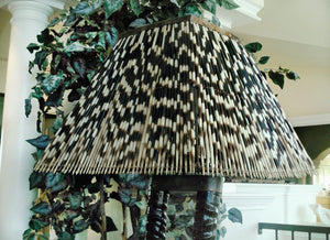 LIGHT SHADE - PORCUPINE QUILL - SQUARE LARGE - Trophy Room Collection