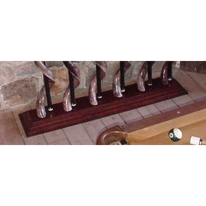 Kudu horn billiard cue holder (SET of 6) -  CHOOSE YOUR BASE - Trophy Room Collection