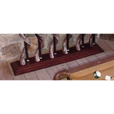 Kudu horn billiard cue holder in natural finish, set of 6. CHOOSE YOUR BASE - Trophy Room Collection