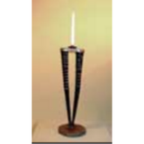 TABLE CANDLE DOUBLE GEMSBOK POL (TC-G2-27P) - Trophy Room Collection