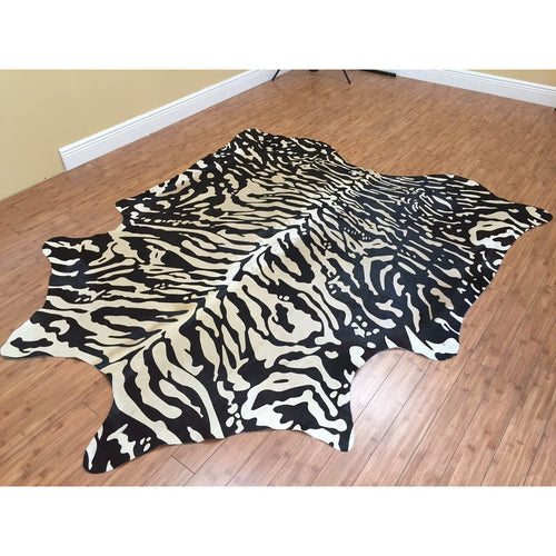 Stenciled Cowhide (Siberian Tiger Print) - Trophy Room Collection  - 2