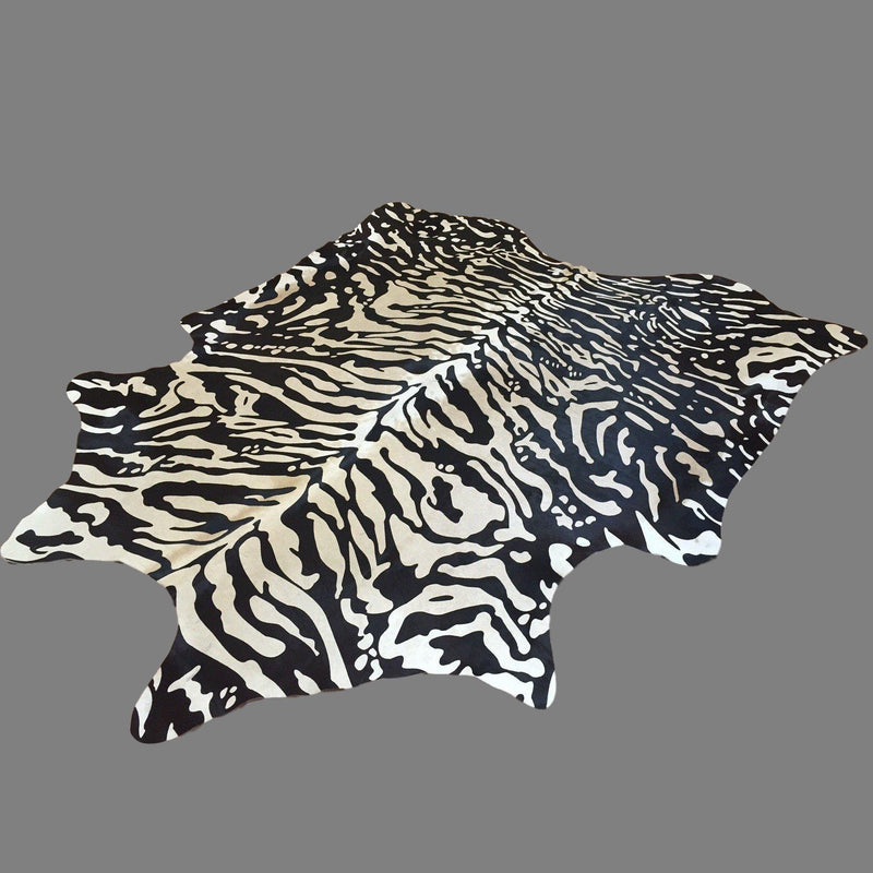 Stenciled Cowhide (Siberian Tiger Print) - Trophy Room Collection