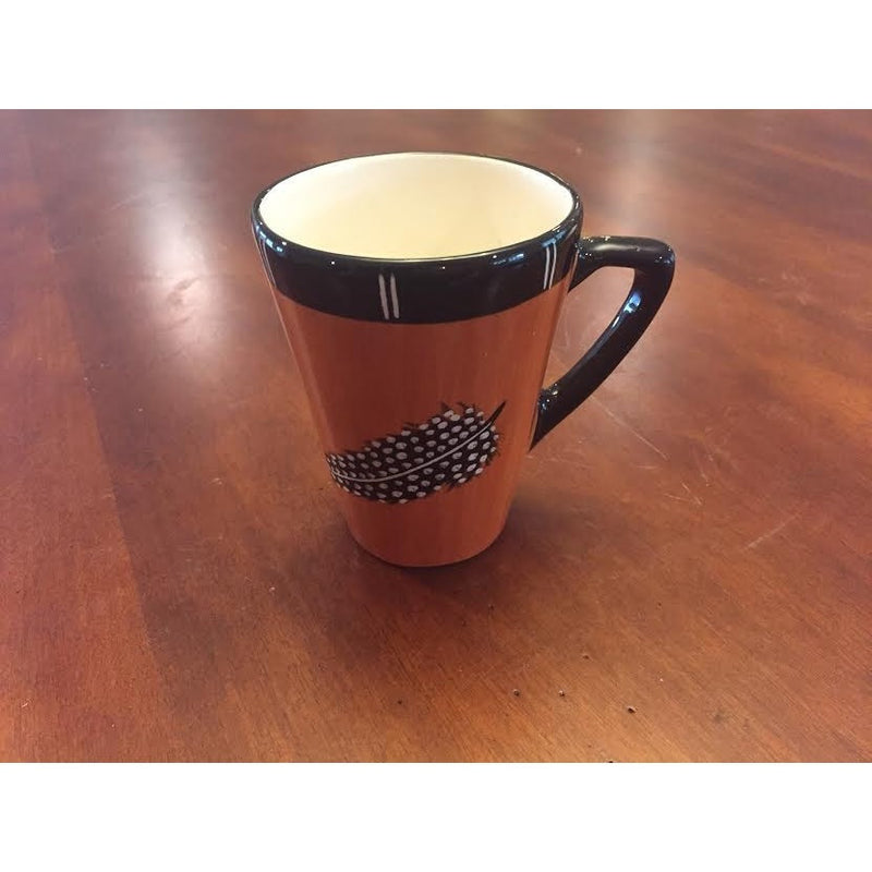 Small coffee mug dark feather - Trophy Room Collection
