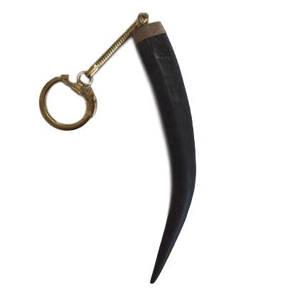 Key Ring- Natural Springbok Horn Tip