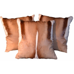 Genuine Springbok Pillow - Trophy Room Collection
