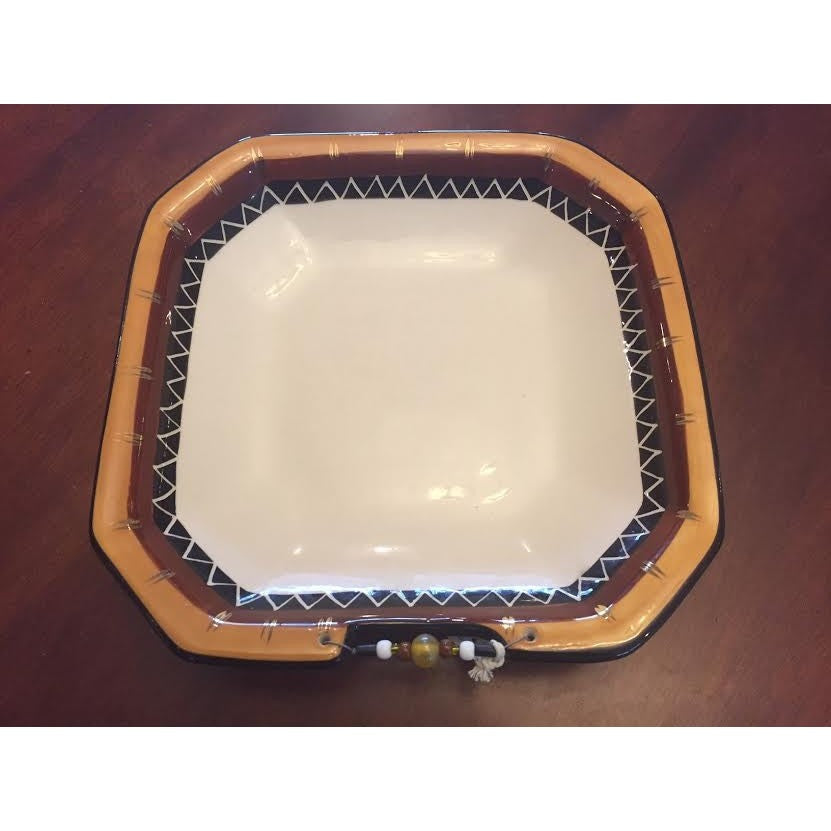 Square bowl Kalahari gold - Trophy Room Collection