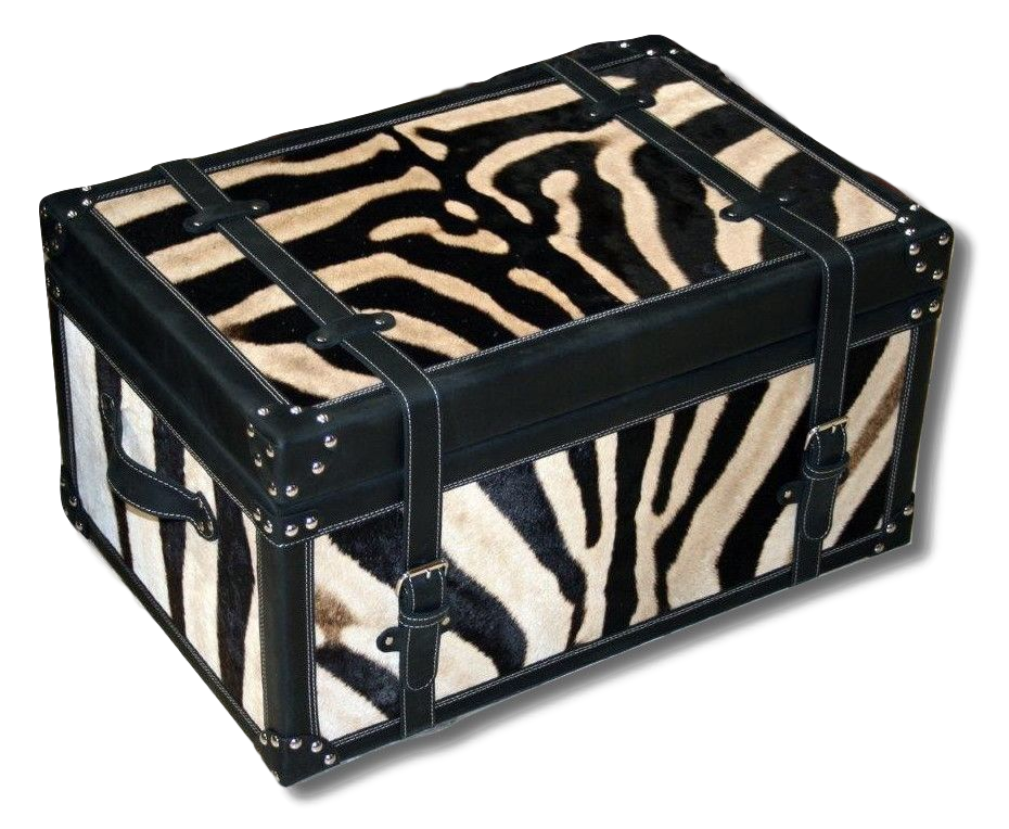 Serengeti Luggage Trunk - ZEBRA - Trophy Room Collection