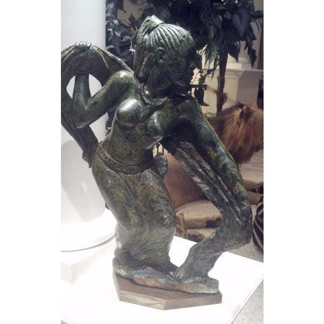 Verdite Dancing Shona Woman - Trophy Room Collection