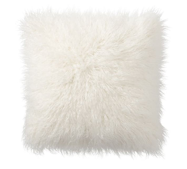"White Tibetan Lamb - DOUBLE Sided Pillow (18"") - Trophy Room Collection"