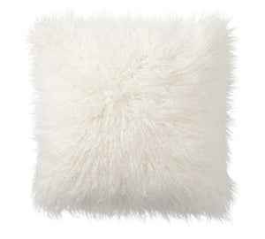 "White Tibetan Lamb - SINGLE Sided Pillow (22"") - Trophy Room Collection"