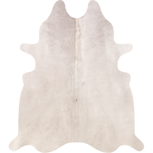 COWHIDE - NATURAL SOLID WHITE *Rare - Trophy Room Collection  - 1