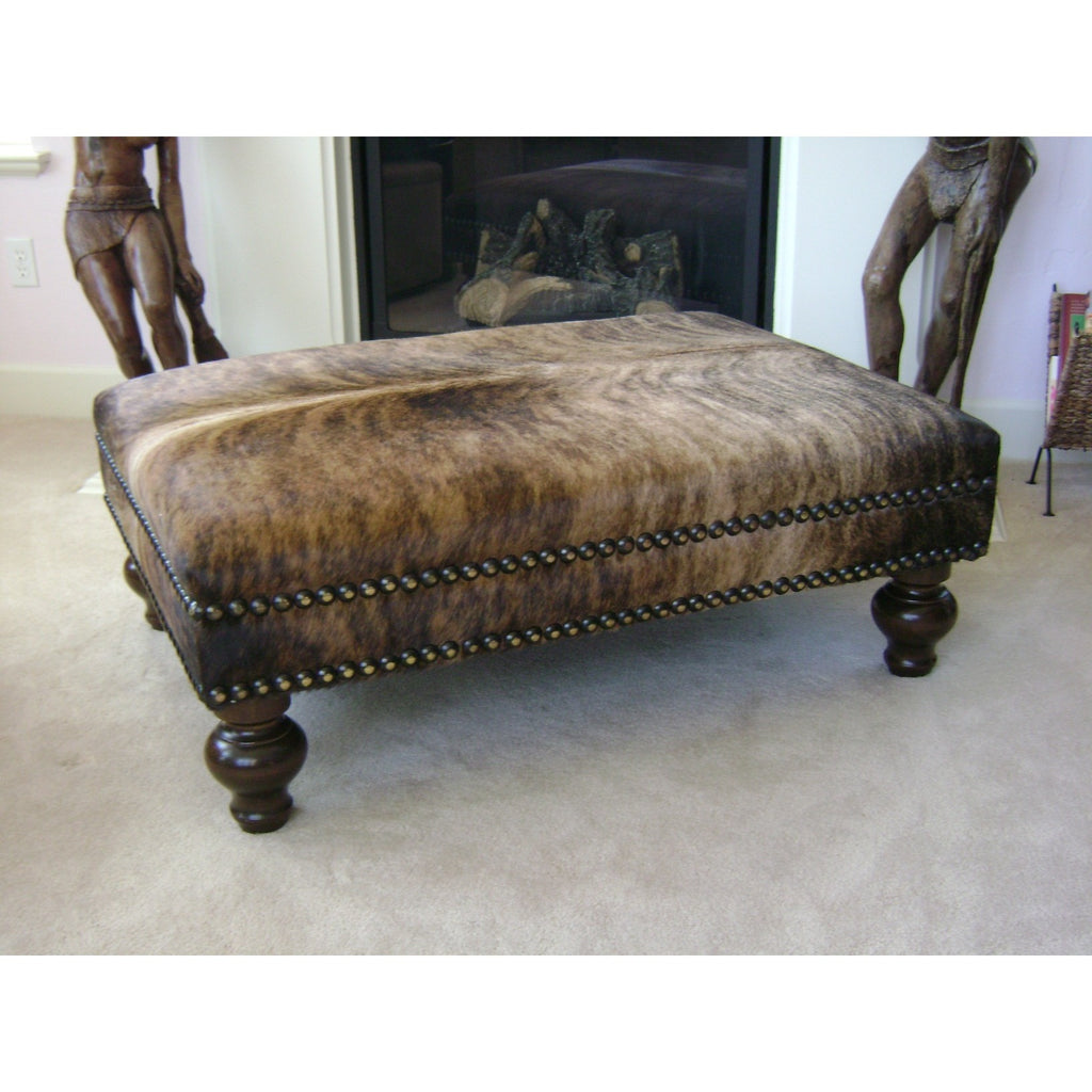 XL Natural Brindle Ottoman - Trophy Room Collection  - 1