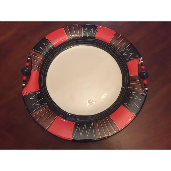 XL Round platter Red Earth - Trophy Room Collection