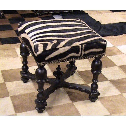 STOOL - Genuine Zebra - Trophy Room Collection