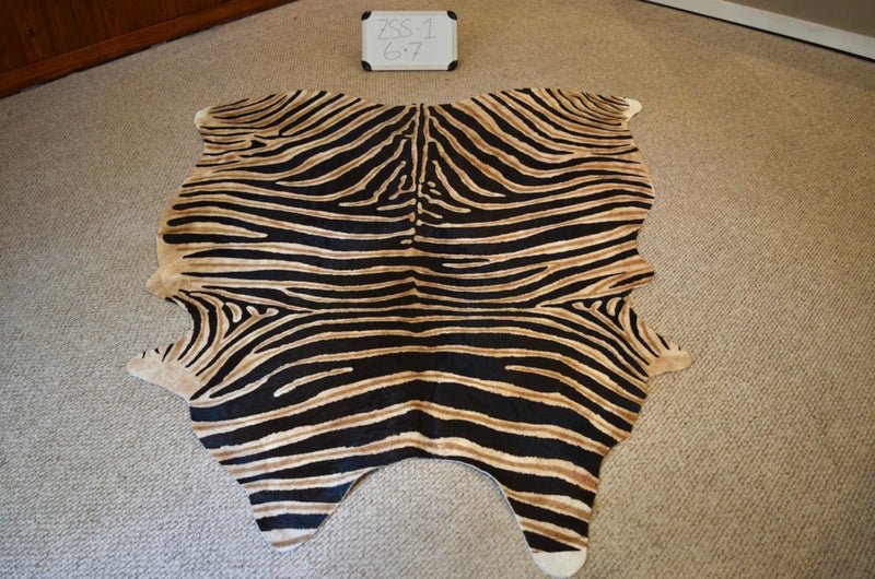 Zebra Printed On Cowhide