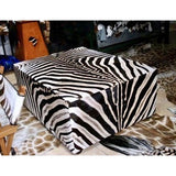 King Ottoman- Genuine Zebra XXL Oversize - Trophy Room Collection