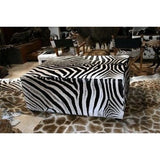 King Ottoman- Genuine Zebra XXL Oversize - Trophy Room Collection  - 2
