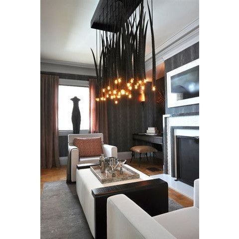 Gemsbok Horn Chandelier - Trophy Room Collection