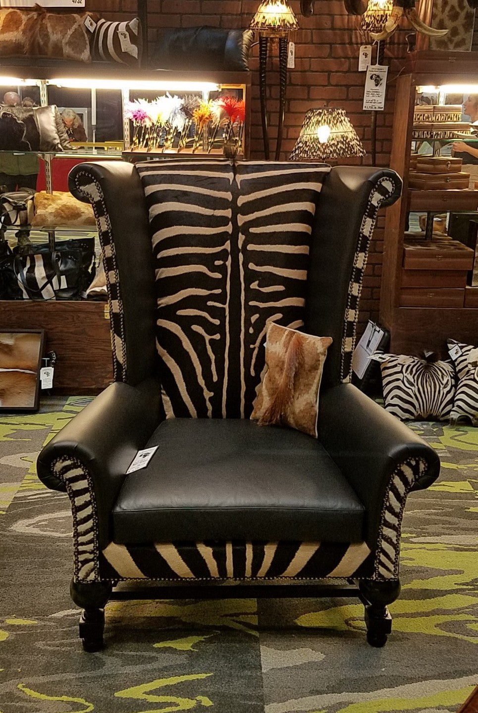 Kings Chair- Zebra - Trophy Room Collection