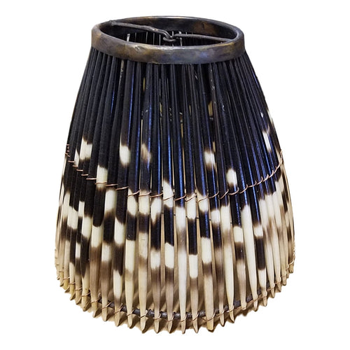 Round Small Porcupine Quill Lampshade - Trophy Room Collection