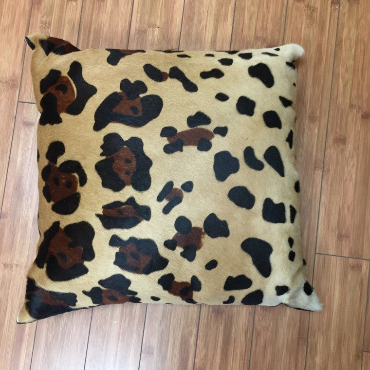 Cowhide Leopard Stencil w/ Black Backing - Trophy Room Collection