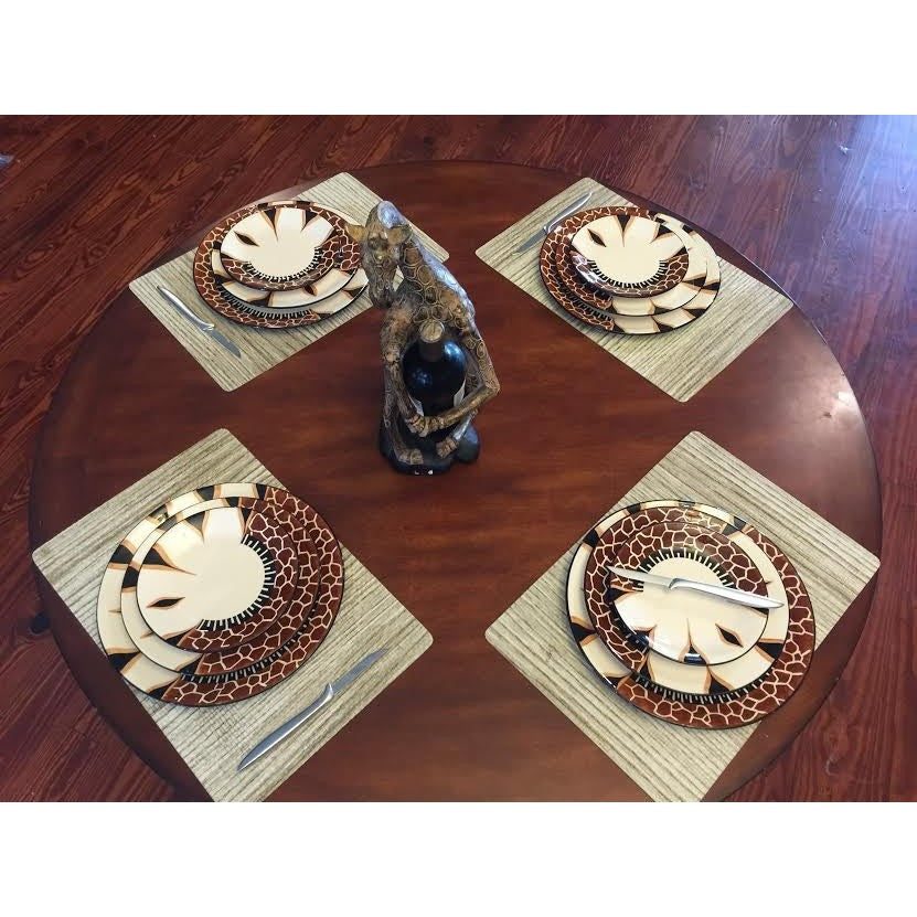 Giraffe 12 Piece Dinner Set - Trophy Room Collection