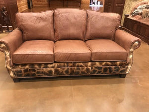 Sofa Ostrich with Giraffe Trim - Trophy Room Collection