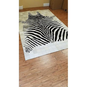 Zebra Patchwork Rug - Trophy Room Collection
