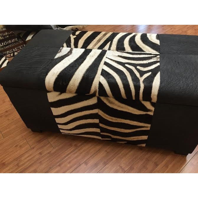 Zebra Storage Chest - Trophy Room Collection  - 1