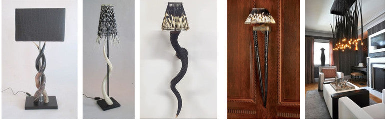 Horn Lighting- The African Markets Trophy Room Collection