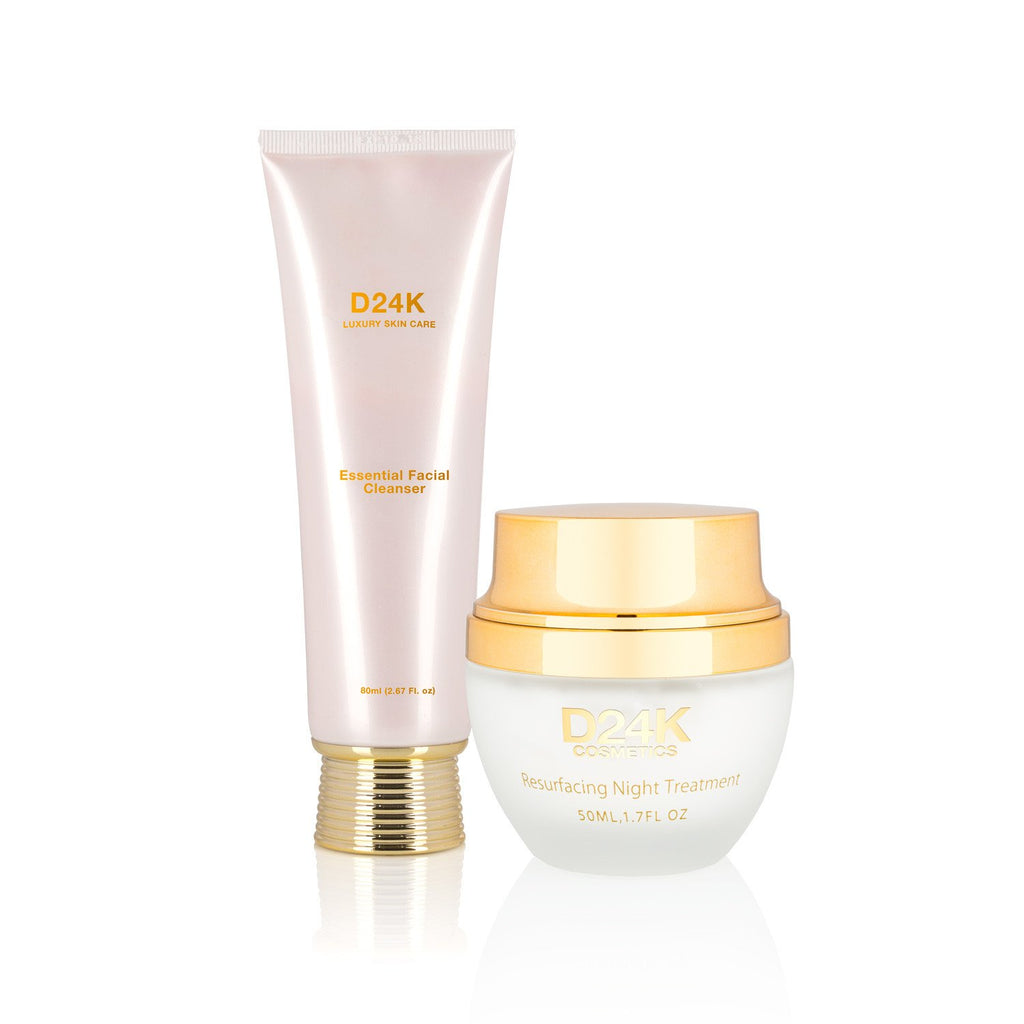 24K Resurfacing Night Treatment / Essential Facial Cleanser