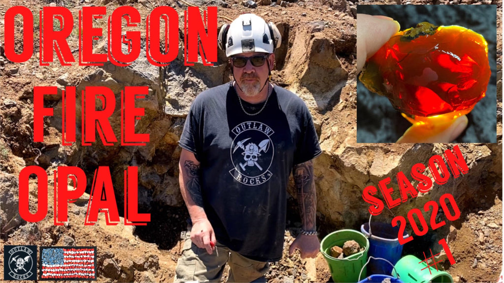 Mining Oregon Fire Opal with Outlaw Rocks Episode 1