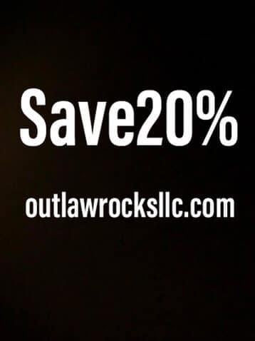 20% Off Outlaw Rocks' Discount Code