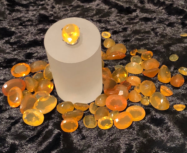 3.5 Carat Faceted Light Yellow Oregon Fire Opal