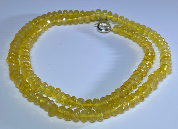 61 Carat Yellow Oregon Fire Opal Bead Strand