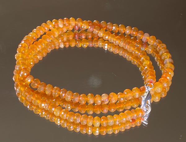 68 Carat Oregon Fire Opal Bead Strand